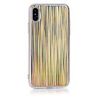 Недорогие Кейсы для iPhone 8 Plus-Кейс для Назначение Apple iPhone X iPhone 8 С узором Кейс на заднюю панель Полосы / волосы Мягкий ТПУ для iPhone X iPhone 8 Pluss iPhone