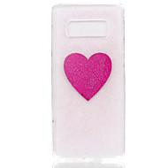 Недорогие Чехлы и кейсы для Galaxy Note 8-Кейс для Назначение SSamsung Galaxy Note 8 С узором Сияние и блеск Кейс на заднюю панель С сердцем Геометрический рисунок Ловец снов