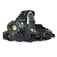 お買い得  フラッシュライト/ランタン/ライト-ヘッドランプ / 安全ライト LED 5000lm 1 照明モード キャンプ / ハイキング / ケイビング / 狩猟 グリーン