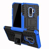 Недорогие Чехлы и кейсы для Galaxy S9 Plus-Кейс для Назначение SSamsung Galaxy S9 Plus / S9 Защита от удара / со стендом Кейс на заднюю панель Однотонный Твердый ПК для S9 / S9