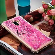 Недорогие Чехлы и кейсы для Galaxy A5(2016)-Кейс для Назначение SSamsung Galaxy A8 Plus 2018 / A8 2018 Защита от удара / Движущаяся жидкость / С узором Кейс на заднюю панель Цветы