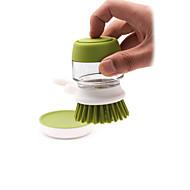abordables Escobillas y cepillos de mano-Cocina Limpiando suministros Plásticos / vidrio Cepillo y Trapo de Limpieza Cocina creativa Gadget 1pc