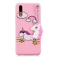 olcso Mobiltelefon tokok-Case Kompatibilitás Huawei P20 P10 Minta Fekete tok Egyszarvú Puha TPU mert Huawei P20 lite Huawei P20 P10 Lite P10 Huawei P9