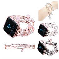 cheap Cell Phone Accessories-Watch Band for Fitbit Versa Fitbit Jewelry Design Ceramic Wrist Strap