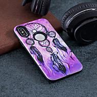 Недорогие Кейсы для iPhone 8 Plus-Кейс для Назначение Apple iPhone X / iPhone 8 Защита от удара / Рельефный / С узором Кейс на заднюю панель Ловец снов Твердый ПК для