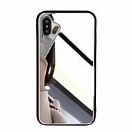 Недорогие Кейсы для iPhone 8-Кейс для Назначение Apple iPhone X / iPhone 8 Plus Зеркальная поверхность Кейс на заднюю панель Однотонный Твердый Акрил для iPhone X / iPhone 8 Pluss / iPhone 8