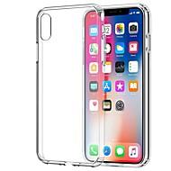 Недорогие Кейсы для iPhone 8 Plus-Кейс для Назначение Apple iPhone X / iPhone 7 Прозрачный Кейс на заднюю панель Однотонный Мягкий ТПУ для iPhone X / iPhone 8 Pluss /