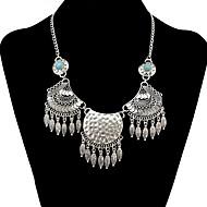 cheap -Women's Bohemian Turquoise Pendant Necklace  -  Vintage / Bohemian / Fashion Geometric Silver 50+4.5cm Necklace For Daily / Ceremony