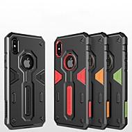 Недорогие Кейсы для iPhone 8-Кейс для Назначение Apple iPhone X / iPhone 8 Защита от удара / Рельефный / броня Кейс на заднюю панель броня Твердый ПК для iPhone X /