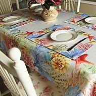 abordables Salvamanteles-Casual CLORURO DE POLIVINILO / No tejido Cuadrado Juego de Mesa Floral Decoraciones de mesa 1 pcs