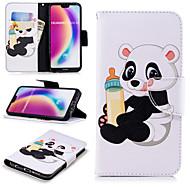 Etui Til Huawei P20 Pro / P20 lite Pung / Kortholder / Med stativ Fuldt etui Panda Hårdt PU Læder for Huawei P20 / Huawei P20 Pro / Huawei P20 lite / P10 Lite