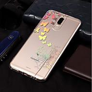 お買い得  携帯電話ケース-ケース 用途 Huawei Mate 10 lite / Mate 10 pro メッキ仕上げ / パターン バックカバー バタフライ / タンポポ ソフト TPU のために Mate 10 lite / Mate 10 pro / Mate 10