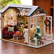 abordables Muñecas y Peluches-Casa de Muñecas Creativo Exquisito Navidad Mini Casa Romántico 1 pcs Piezas Todo Chica Juguet Regalo
