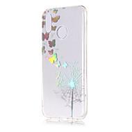 billige Mobilcovers-Etui Til Huawei P20 lite / P20 Belægning / Transparent / Mønster Bagcover Sommerfugl / Mælkebøtte Blødt TPU for Huawei P20 lite / Huawei
