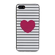 Недорогие Кейсы для iPhone 8-Кейс для Назначение Apple iPhone X / iPhone 7 Ультратонкий / С узором / Милый Кейс на заднюю панель С сердцем Мягкий ТПУ для iPhone X /
