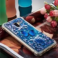 Недорогие Чехлы и кейсы для Galaxy A5(2016)-Кейс для Назначение SSamsung Galaxy A8 Plus 2018 / A8 2018 Защита от удара / Движущаяся жидкость / С узором Кейс на заднюю панель Бабочка