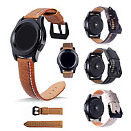 cheap -Watch Band for Gear S3 Frontier / Gear S3 Classic Samsung Galaxy Classic Buckle Genuine Leather Wrist Strap