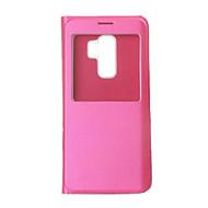 Недорогие Чехлы и кейсы для Galaxy S9-Кейс для Назначение SSamsung Galaxy S9 / S9 Plus с окошком / Флип / Ультратонкий Чехол Однотонный Твердый Кожа PU для S9 Plus / S9