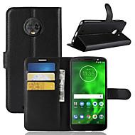 お買い得  携帯電話ケース-ケース 用途 Motorola Moto G6 Play / MOTO G6 カードホルダー / ウォレット / フリップ フルボディーケース ソリッド ハード PUレザー のために Moto Z2 play / Moto X4 / Moto G6 Plus