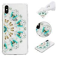 Недорогие Кейсы для iPhone 8-Кейс для Назначение Apple iPhone X / iPhone 8 Plus / iPhone XS Защита от удара / С узором Кейс на заднюю панель Бабочка Мягкий ТПУ для iPhone XS / iPhone XR / iPhone XS Max