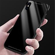 Недорогие Кейсы для iPhone 8-Кейс для Назначение Apple iPhone X / iPhone 8 Зеркальная поверхность Кейс на заднюю панель Однотонный Твердый Закаленное стекло для