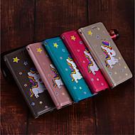 Недорогие Чехлы и кейсы для Galaxy S9-Кейс для Назначение SSamsung Galaxy S9 / S9 Plus Бумажник для карт / со стендом / Флип Чехол единорогом Твердый Кожа PU для S9 Plus / S9