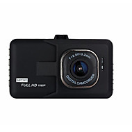 Недорогие Видеорегистраторы для авто-1080p Ночное видение Автомобильный видеорегистратор 140° Широкий угол 3 дюймовый Капюшон с G-Sensor / Циклическая запись Автомобильный рекордер