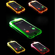 Недорогие Кейсы для iPhone 8-Кейс для Назначение Apple iPhone X / iPhone 8 Plus Мигающая LED подсветка Кейс на заднюю панель Однотонный Мягкий ТПУ для iPhone X /