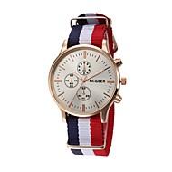 abordables Relojes de Moda-Mujer Cuarzo Chino Cronógrafo Tejido Banda Elegant Negro / Blanco / Azul / Rojo