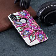Недорогие Кейсы для iPhone 8 Plus-Кейс для Назначение Apple iPhone X / iPhone 8 Защита от удара / Рельефный / С узором Кейс на заднюю панель Мандала Твердый ПК для iPhone