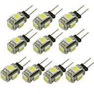 abordables Luces LED de Doble Pin-WeiXuan 6pcs 1W 80lm G4 Luces LED de Doble Pin T 5 Cuentas LED SMD 5050 Blanco Cálido Blanco Fresco Verde Amarillo Azul Rojo 12V