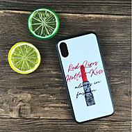 Недорогие Кейсы для iPhone 8 Plus-Кейс для Назначение Apple iPhone X / iPhone 8 Plus Защита от удара / Матовое / С узором Кейс на заднюю панель Слова / выражения Твердый ПК