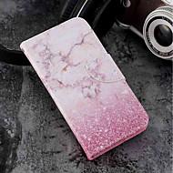 preiswerte Handyhüllen-Hülle Für Wiko WIKO Sunny 2 plus Geldbeutel / Kreditkartenfächer / mit Halterung Ganzkörper-Gehäuse Marmor Hart PU-Leder für Wiko View prime / Wiko Lenny 4 PLUS