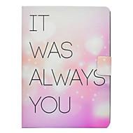Недорогие Чехлы и кейсы для Galaxy Tab 3 10.1-Кейс для Назначение SSamsung Galaxy Tab 3 10.1 Бумажник для карт / Защита от удара / со стендом Чехол Слова / выражения Твердый Кожа PU для Tab 3 10.1