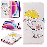 お買い得  携帯電話ケース-ケース 用途 Huawei P20 Pro / P20 lite ウォレット / カードホルダー / スタンド付き フルボディーケース 象 ハード PUレザー のために Huawei P20 / Huawei P20 Pro / Huawei P20 lite