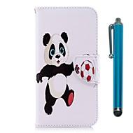 Недорогие Кейсы для iPhone 8 Plus-Кейс для Назначение Apple iPhone X / iPhone 8 Plus Кошелек / Бумажник для карт / со стендом Чехол Панда Твердый Кожа PU для iPhone X /