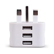 halpa iPod laturit-Kannettava laturi USB-laturi UK-pistoke 3 USB-portti 2.1 A 100~240 V