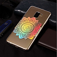 Недорогие Чехлы и кейсы для Galaxy А-Кейс для Назначение SSamsung Galaxy A8 2018 / A8 Plus 2018 Покрытие / С узором Кейс на заднюю панель Мандала Мягкий ТПУ для A3 (2017) /