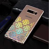 Недорогие Чехлы и кейсы для Galaxy Note 8-Кейс для Назначение SSamsung Galaxy Note 8 Покрытие / С узором Кейс на заднюю панель Кружева Печать Мягкий ТПУ для Note 8