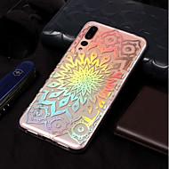 voordelige Mobiele telefoonhoesjes-hoesje Voor Huawei P20 lite / P20 Beplating / Patroon Achterkant Bloem Zacht TPU voor Huawei P20 lite / Huawei P20 Pro / Huawei P20