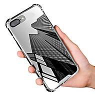 Недорогие Кейсы для iPhone 8-Кейс для Назначение Apple iPhone X / iPhone 8 Защита от удара / Зеркальная поверхность Чехол Однотонный Мягкий ТПУ для iPhone X / iPhone