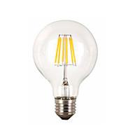 お買い得  -1個 6W 560lm E26 / E27 フィラメントタイプLED電球 G95 6 LEDビーズ COB 装飾用 温白色