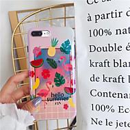 Недорогие Кейсы для iPhone 8 Plus-Кейс для Назначение Apple iPhone X iPhone 7 Plus IMD Кейс на заднюю панель Фламинго Фрукты Мягкий Силикон для iPhone X iPhone 8 Pluss