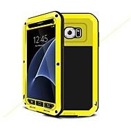 Недорогие Чехлы и кейсы для Galaxy S7-Кейс для Назначение SSamsung Galaxy S7 Защита от влаги Защита от удара броня Чехол броня Твердый Металл для S7 S6 S5