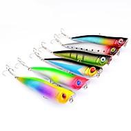 お買い得  釣り用アクセサリー-6pcs 個 ポッパー ハードベイト / ポッパー プラスチック 屋外 ベイトキャスティング / ルアー釣り / 一般的な釣り
