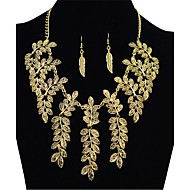 cheap -Women's Synthetic Tanzanite Oversized Leaf Jewelry Set 1 Necklace / Earrings - Vintage / Fashion / Oversized Irregular Gold / Silver