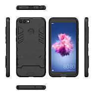 お買い得  携帯電話ケース-ケース 用途 Huawei P smart 耐衝撃 / スタンド付き バックカバー 鎧 ハード PC のために P smart