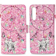 お買い得  携帯電話ケース-ケース 用途 Huawei P20 ウォレット / カードホルダー / スタンド付き フルボディーケース ドリームキャッチャー ハード PUレザー のために Huawei P20