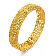 cheap -Women's Gold Plated Cuff Bracelet - Metallic / Ethnic Circle Gold / White Bracelet For Party / Gift