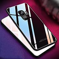 Недорогие Чехлы и кейсы для Galaxy S-Кейс для Назначение SSamsung Galaxy S9 S9 Plus Зеркальная поверхность Кейс на заднюю панель Однотонный Твердый Закаленное стекло для S9